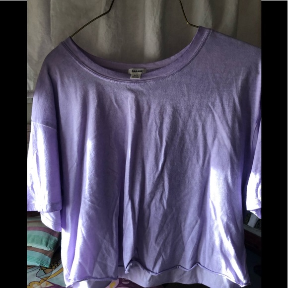 Garage Purple Cropped Top